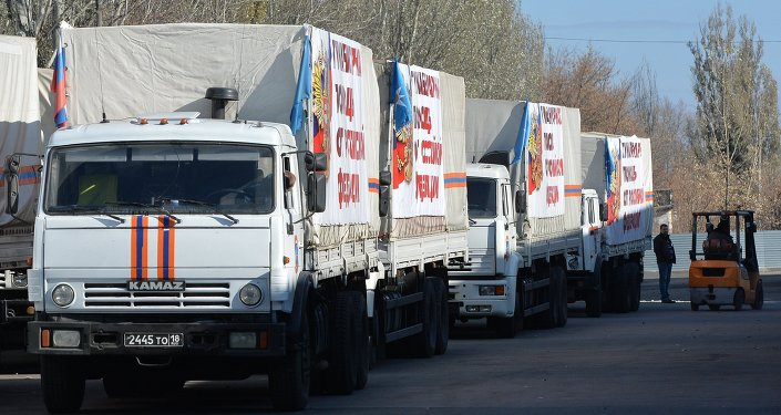 Russian humanitarian aid convoy reaches Donetsk