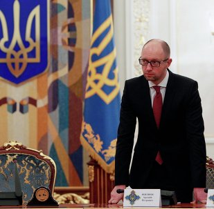 Ukraine's Prime Minister Arseny Yatsenyuk arrives for the Security Council meeting in Kiev November 4, 2014.