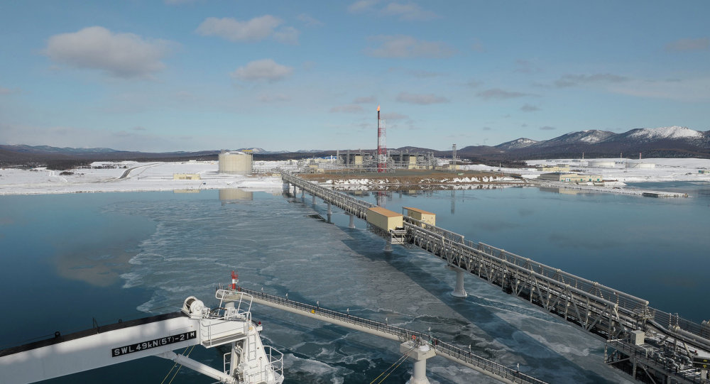 Russia's first LNG plant in Sakhalin