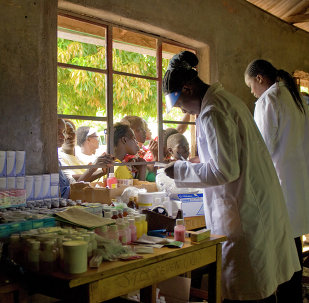 U.S. Army medical researchers take part in World Malaria Day 2010, Kisumu, Kenya April 25, 2010