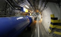 In this May 31, 2007 file photo, a view of the LHC (large hadron collider) in its tunnel at CERN (European particle physics laboratory) near Geneva, Switzerland