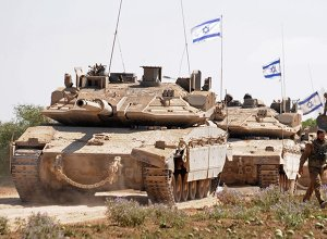 Israeli soldiers, waiting for orders to enter the Gaza Strip
