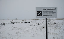 Crash site of the Malaysian Boeing 777 in the village of Grabovo near Shakhtarsk, Donetsk Region.