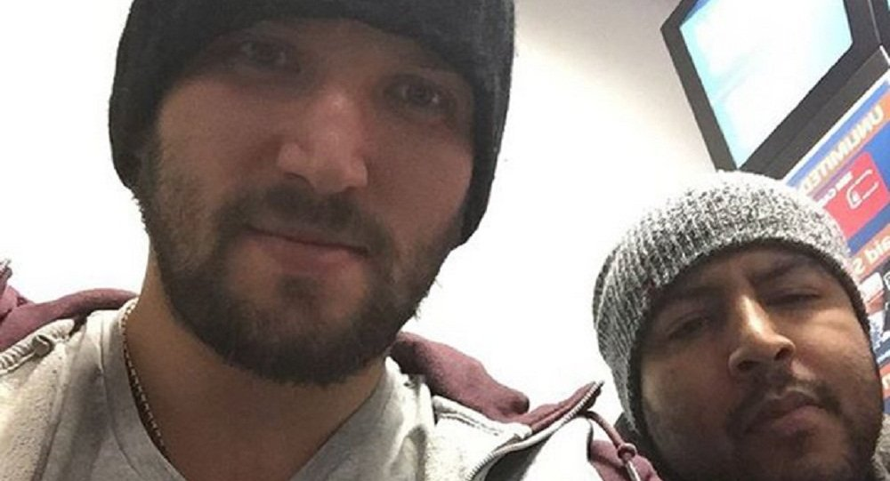 File Under 'Are You Kidding Me?': Ice Hockey Star Alex Ovechkin Takes Selfie Wearing Vladimir Putin T-shirt