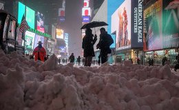 Heavy snowfall in New York