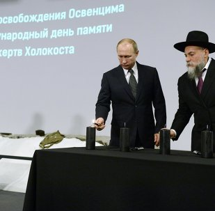 President Putin during commemoration of Holocaust victims