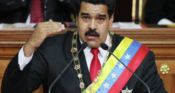 Venezuela's President Nicolas Maduro, speaks during the annual state-of-the-nation address at the National Assembly in Caracas, Venezuela, Wednesday, Jan 21, 2015