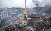 Maidan square in Kiev, Ukraine, Feb 19, 2014