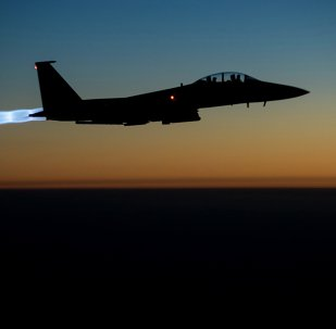 US Air Force F-15E Strike Eagles conducting airstrikes in Syria and Iraq. File photo.