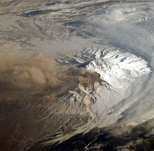 Shiveluch, one of Kamchatka's most active volcanoes