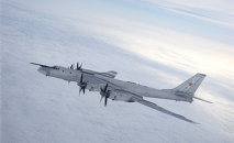 A Tupolev Tu-95 Bear strategic bomber