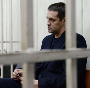 Judge Natalia Mushnikova ruled that Andrei Ikramov should be kept in pre-trial detention until April 27 Above: Andrei Ikramov.