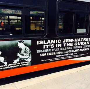 AFDI, an American offshoot of a European anti-Muslim organization, claimed it has a first amendment right to run bus ads linking Muslims to Hitler.