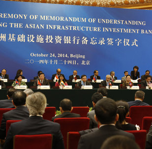 Delegates attend a signing ceremony of the Asian Infrastructure Investment Bank at the Great Hall of the People in Beijing. (File)