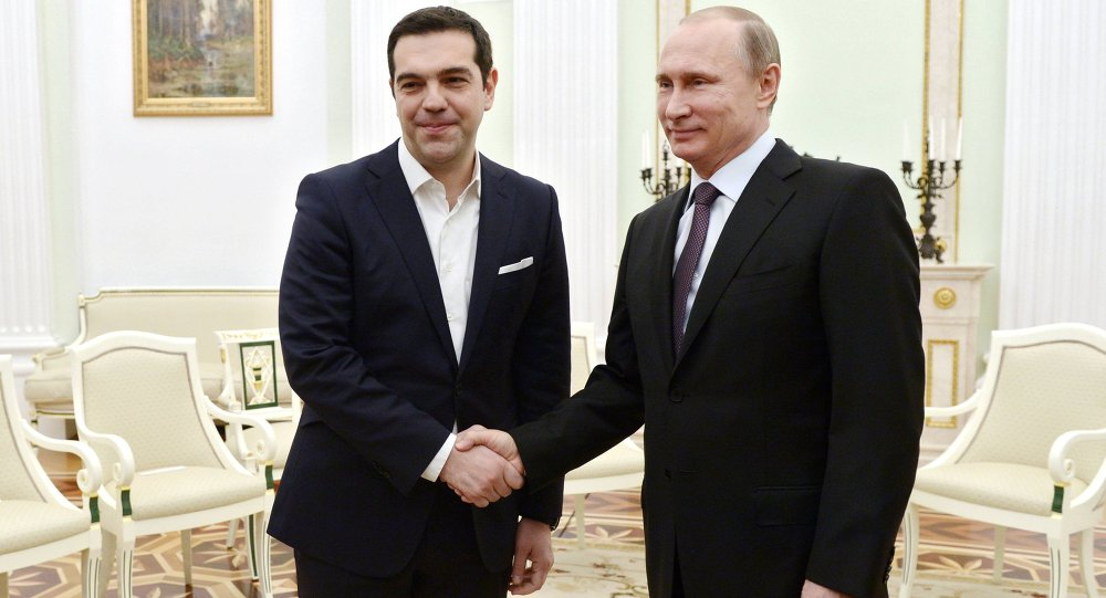 President Vladimir Putin meets with Prime Minister of Greece Alexis Tsipras