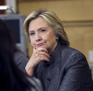 U.S. presidential candidate and former Secretary of State Hillary Clinton participates in a discussion in a classroom at New Hampshire Technical Institute while campaigning for the 2016 Democratic presidential nomination in Concord, New Hampshire, April 21, 2015