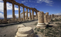 A file picture taken on March 14, 2014 shows a partial view of the ancient oasis city of Palmyra, 215 kilometres northeast of Damascus. Islamic State group fighters advanced to the gates of ancient Palmyra on May 14, 2015