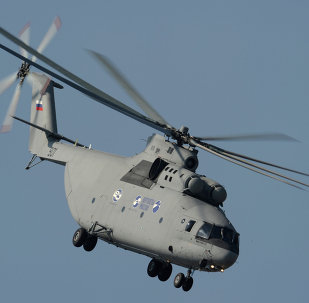 The new Mi-26T2 Russian heavy multipurpose transport helicopter
