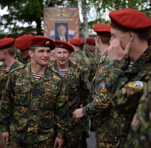 Special purpose unit of the regional division of internal military forces of the Interior Ministry take maroon beret exam at the Gorny training base in the Novosibirsk Region.