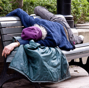A homeless in Canada