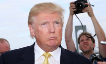 Donald Trump attends the Hank's Yanks 1st Annual Golf Classic at Trump Golf Links on Monday, July 6, 2015.