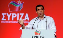 Greek Prime Minister Alexis Tsipras addresses a meeting of his ruling radical left Syriza party's central committee in Athens, on Thursday, July 30, 2015.