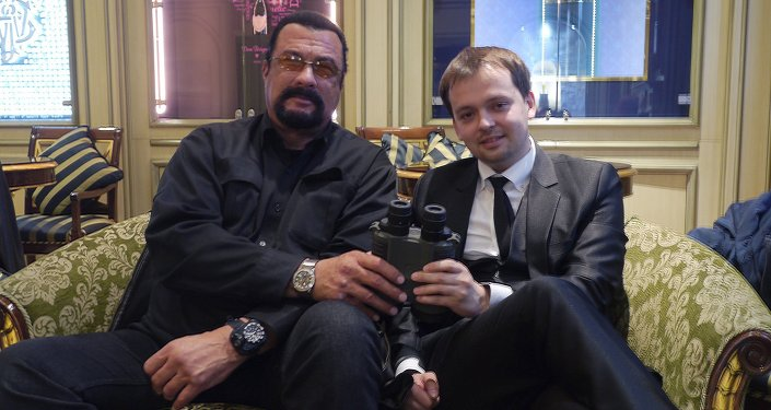 Steven Seagal and Dmitry Mikhailov