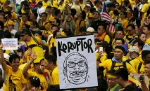 Protesters march at a rally organised by pro-democracy group Bersih (Clean) in Malaysia's capital city of Kuala Lumpur, August 29, 2015