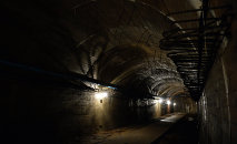 Underground galleries, part of Nazi Germany Riese construction project are pictured under the Ksiaz castle in the area where the Nazi gold train is supposedly hidden underground, on August 28, 2015 in Walbrzych, Poland