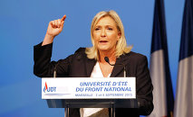 Instead of helping Russia to crash Islamic militants in Syria, France is doing the opposite – helping al-Qaeda-linked terrorists, said Marine Le Pen, the leader of French National Front party.
