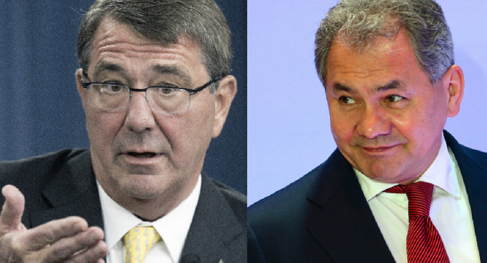Ashton Carter and Sergei Shoigu