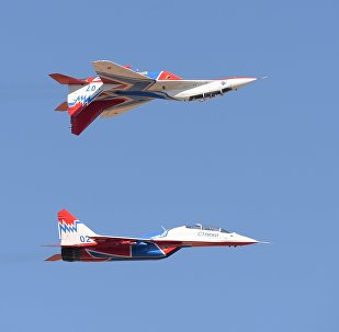 Air show celebrating 95 years of the Russian military's flight test center