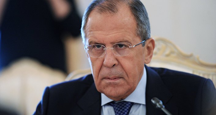 Russian Foreign Minister Sergei Lavrov meets with his Laotian counterpart Thongloun Sisoulith