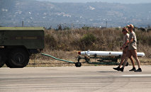Russian military air group at Khmeimim airbase in Syria
