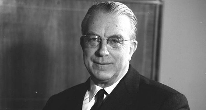 Hans Josef Maria Globke, co-author of the official legal commentary of the Nuremberg Laws which revoked the citizenship of German Jews and Director of the West Germany Chancellor's Office from 1953 till 1963.