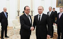 President Putin meets with French President Francois Hollande