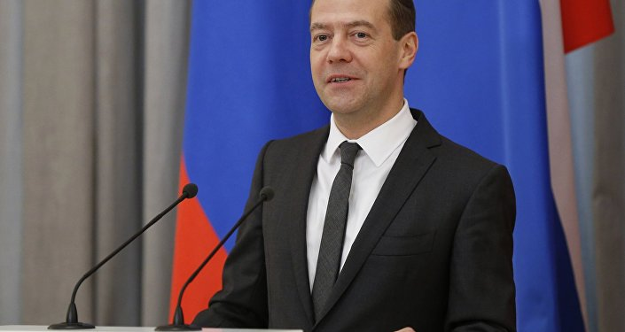 Prime Minister Dmitry Medvedev speaks at government science-technology award ceremony