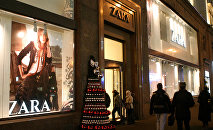 Zara boutique in Tverskaya, Moscow's main street