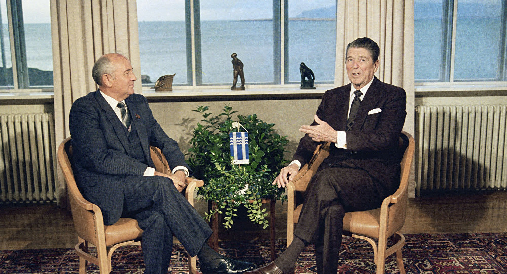 Reagan,Gorbachev summit