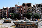 Syrian soldiers recapture the Damascus.