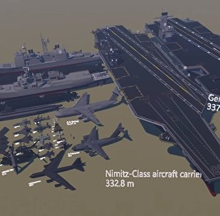 A jaw-dropping clip has emerged on the Internet which reveals a sample of equipment, ships, planes and vehicles from the US arsenal, all lined up from smallest to largest