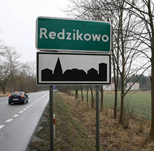 The village of Redzikowo in northern Poland