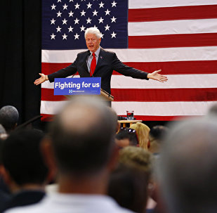 Former President Bill Clinton speaks while campaigning for his wife, Democratic presidential candidate Hillary Clinton, Friday, May 13, 2016, at Passaic County Community College in Paterson, N.J.