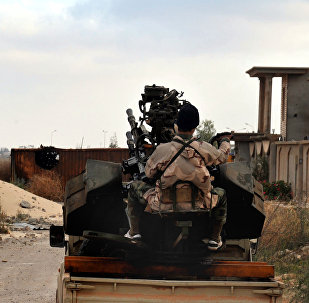 Man loyal to the Libyan armed forces prepares himself for clashes with Islamic State group militants in Libya. (File)