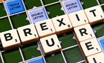 A scrabble board spells out Brexit in Dublin, Ireland May 4 2016.