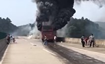 Dozens die as bus catches fire in C China