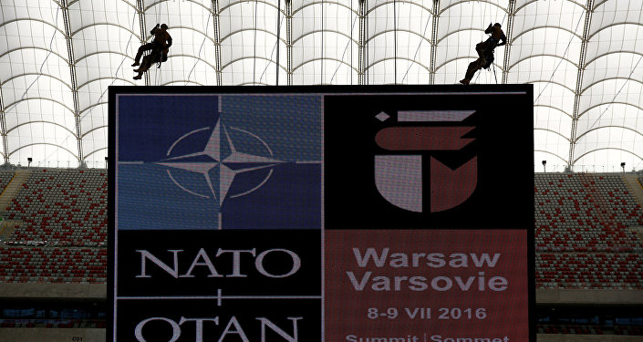 Soldiers demonstrate their skills during a military police exercise, ahead of the NATO summit in July in Warsaw (File)