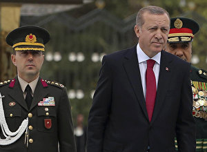 Turkish President Recep Tayyip Erdogan and Ali Yazici