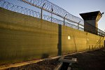 The guard tower of Camp Six detention facility of the Joint Detention Group at the US Naval Station in Guantanamo Bay, Cuba. file photo