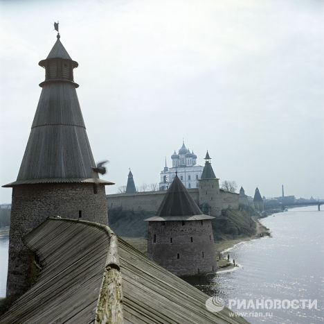 The Pskov Kremlin, one of the strongest medieval fortresses